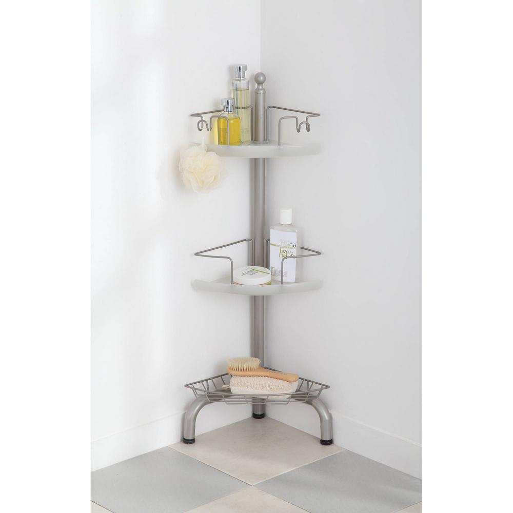 bathroom floor caddy home zone 3 tier adjustable floor standing shower caddy 10622