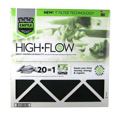 20 in. x 20 in. HVAC Air Filter -  FRP 8  1 year High Flow Filter