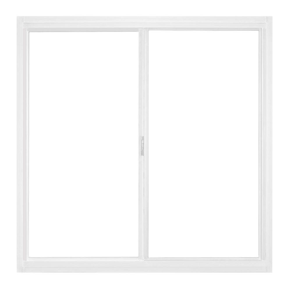 23.5 in. x 23.5 in. A-200 Left-Hand Horizontal Sliding Aluminum Windows
