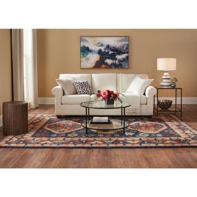 Woven Treasures Multicolored 8 ft. x 10 ft. Medallion Area Rug