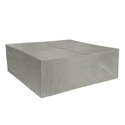 Bonanza 66 in. Grey Square Table and Chair Cover