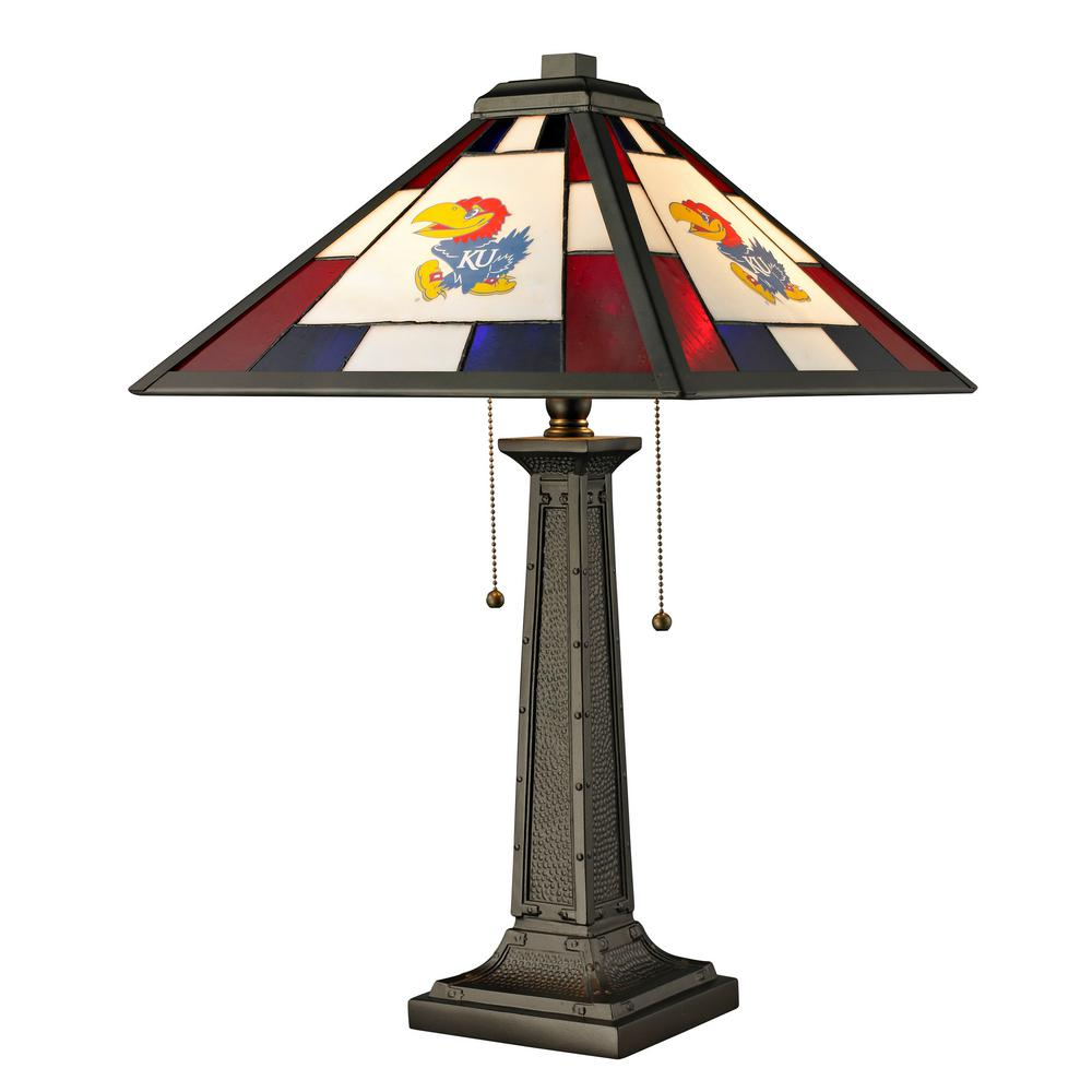 Imperial 24 in. Tiffany University of Kansas Desk Lamp