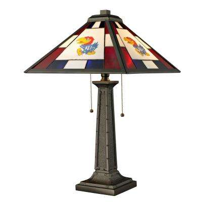 24 in. Tiffany University of Kansas Desk Lamp