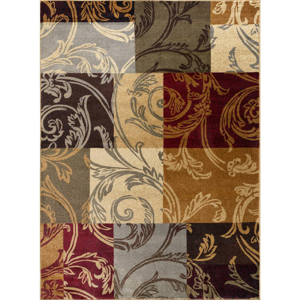 Tayse Rugs Impressions Multi-Color 9 ft