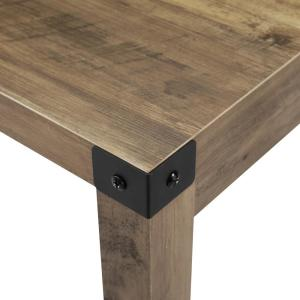 premium selection 763a2 4e86b 48 in. Rustic Oak Industrial Farmhouse Dining Table