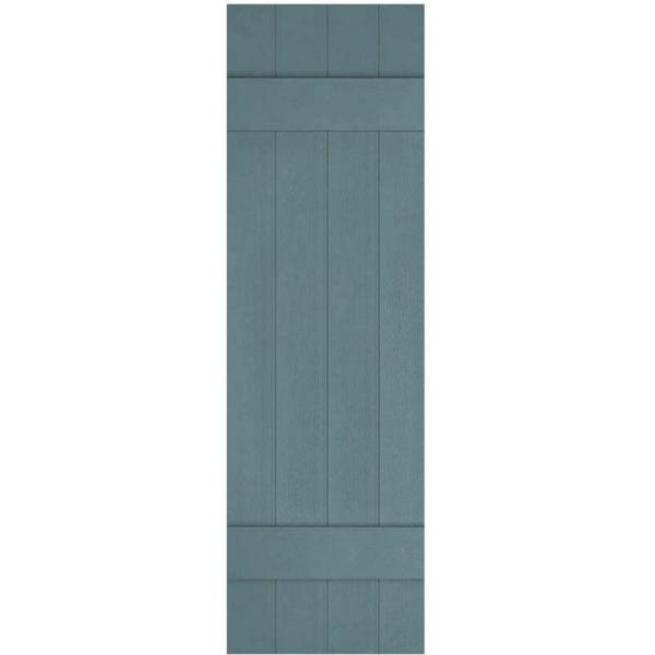 Ekena Millwork 14 In X 47 In Lifetime Vinyl Custom Four Board Joined Board And Batten Shutters Pair Wedgewood Blue Lj4c14x04700wb The Home Depot