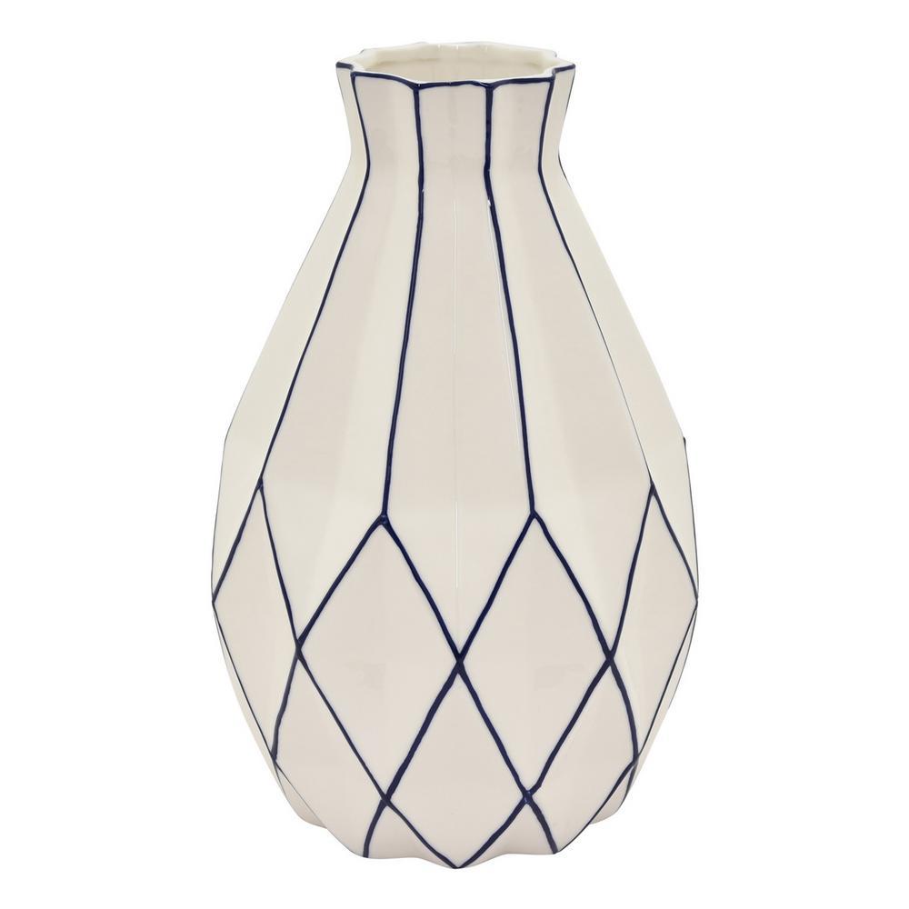 11 in. Porcelain White Vase