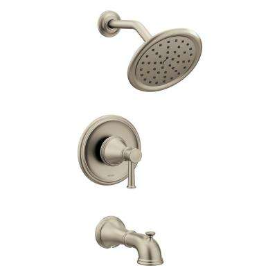 Belfield Single-Handle 1-Spray Posi-Temp Tub and Shower Faucet Trim Kit in Brushed Nickel (Valve Not Included)