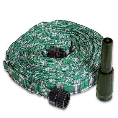 2 in. Dia x 50 ft. HydroHose Designer Series with Adjustable Nozzle in Green Plaid