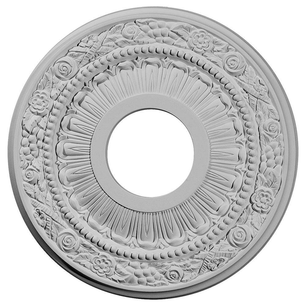 12-1/8 in. O.D. x 3-5/8 in. I.D. x 7/8 in. P Nadia Ceiling Medallion