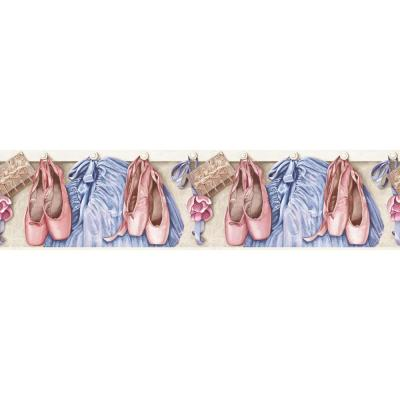 Brothers and Sisters V Toe Shoes and Tutu's Wallpaper Border