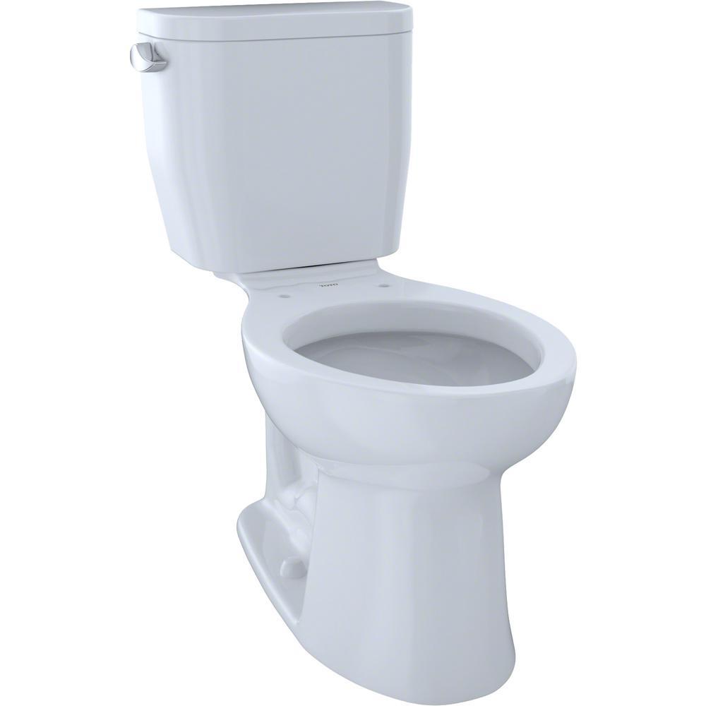 TOTO Entrada 2-Piece 1.28 GPF Single Flush Elongated Toilet in Cotton White