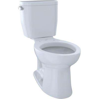 Entrada 2-Piece 1.28 GPF Single Flush Elongated Toilet in Cotton White