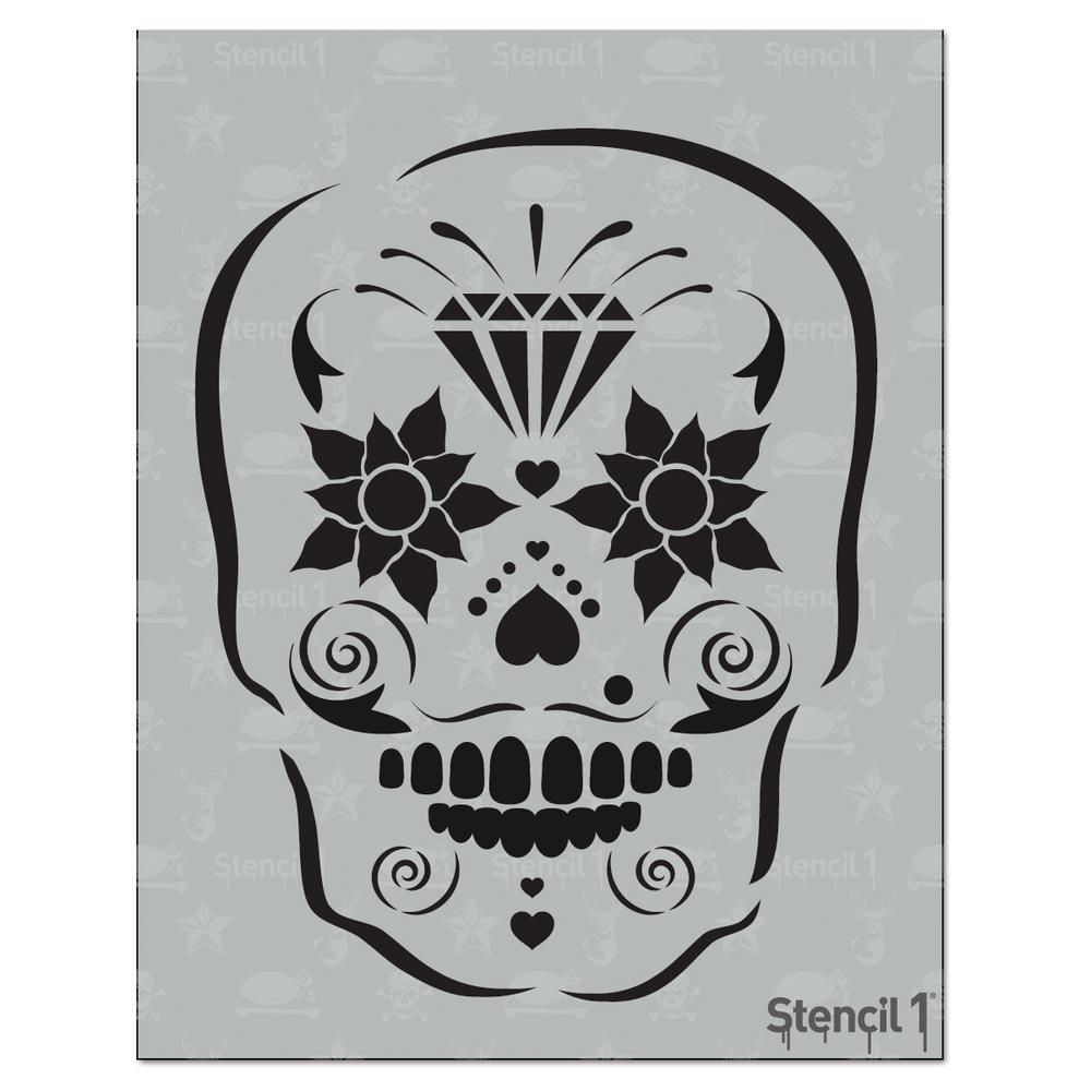 Stencil1 Sugar Skull Stencil-S1_01_HW_14 - The Home Depot