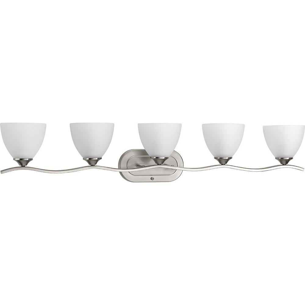 Progress Lighting Laird Collection 5-Light Brushed Nickel Bath Light