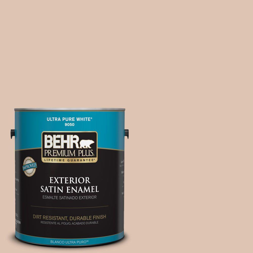 BEHR Premium Plus 1-gal. #280E-2 Arabian Sands Satin Enamel Exterior Paint
