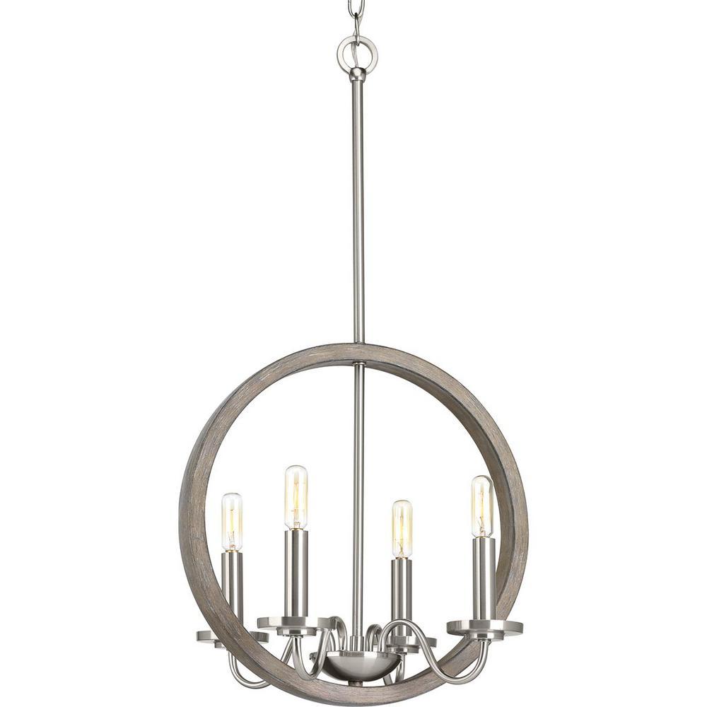 Fontayne Collection 4-Light Brushed Nickel Chandelier