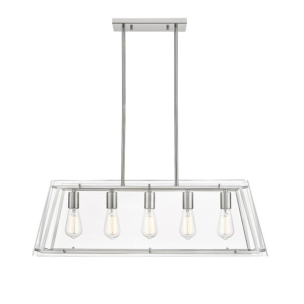Evan V 5-Light Brushed Nickel Pendant