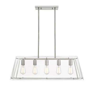 Evan V 5-Light Brushed Nickel Pendant