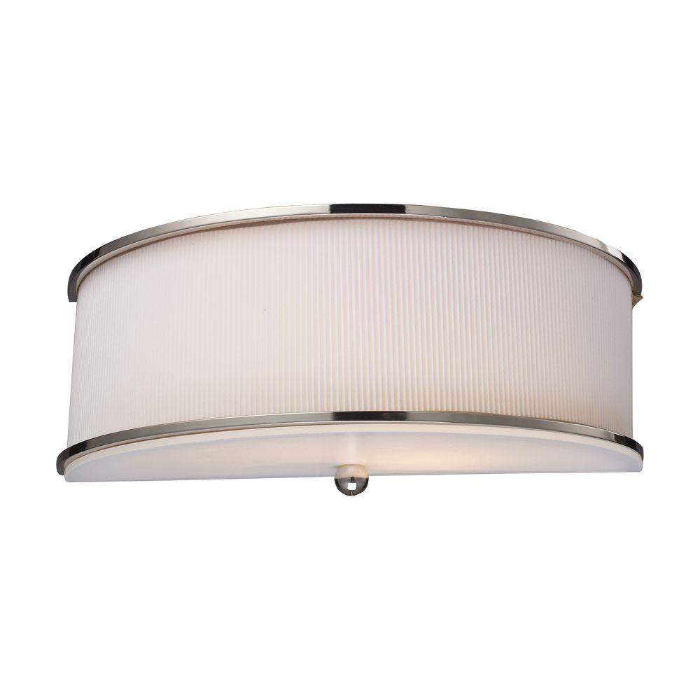 Titan Lighting 2-Light Polished Nickel Wall Sconce-DISCONTINUED
