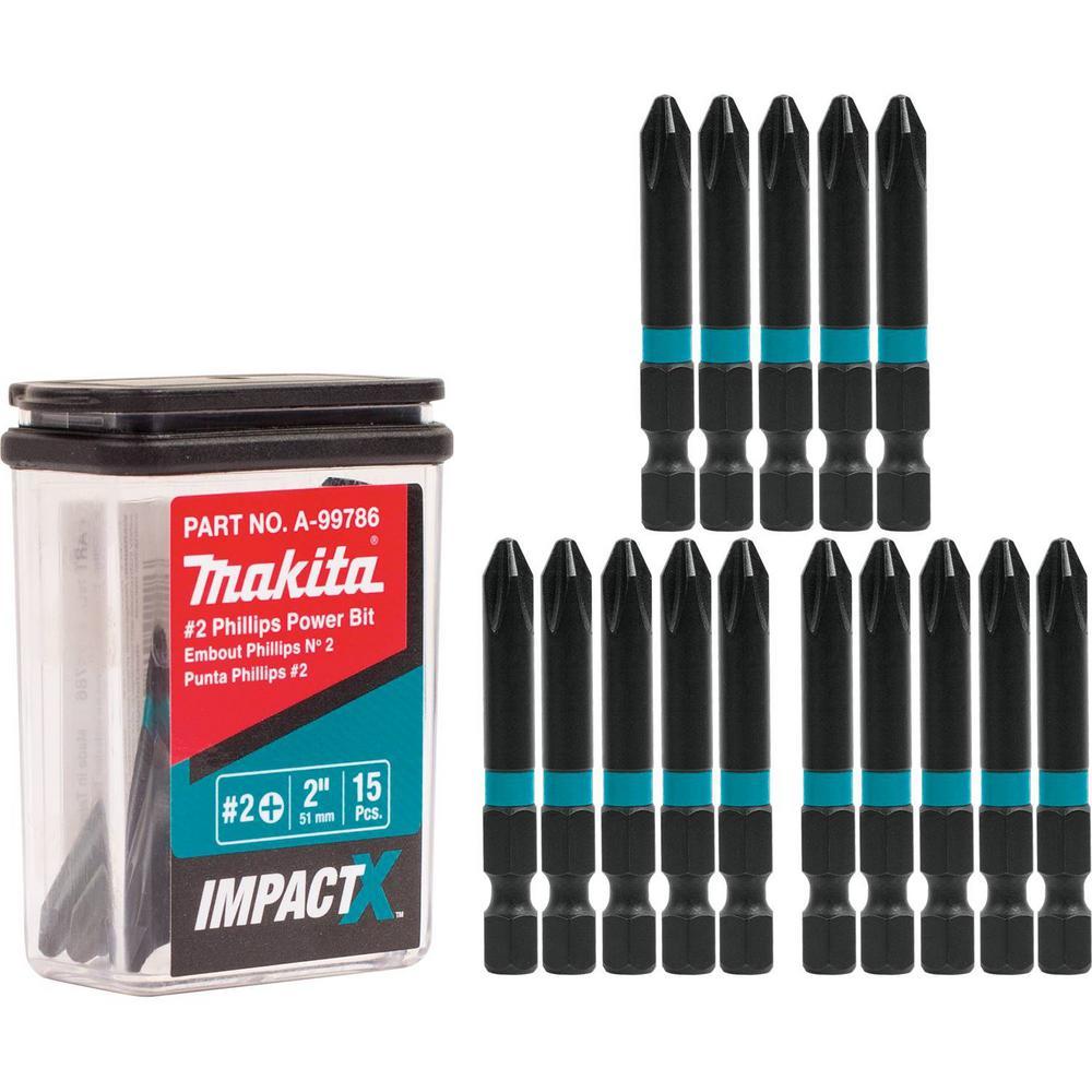 ImpactX #2 Phillips 2 in. Modified S2 Steel Power Bit (15-Pack)