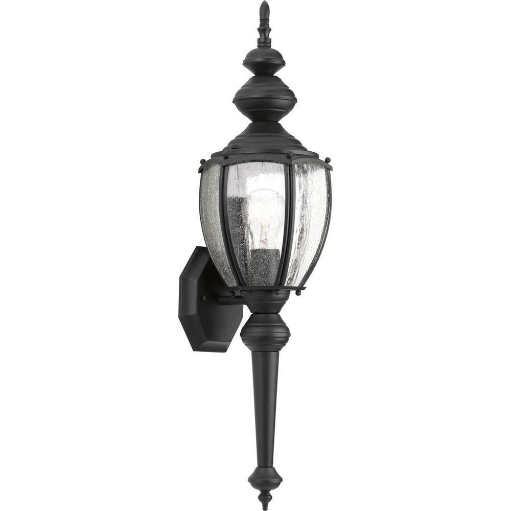 Roman Coach Collection 1-Light Outdoor Black Wall Lantern