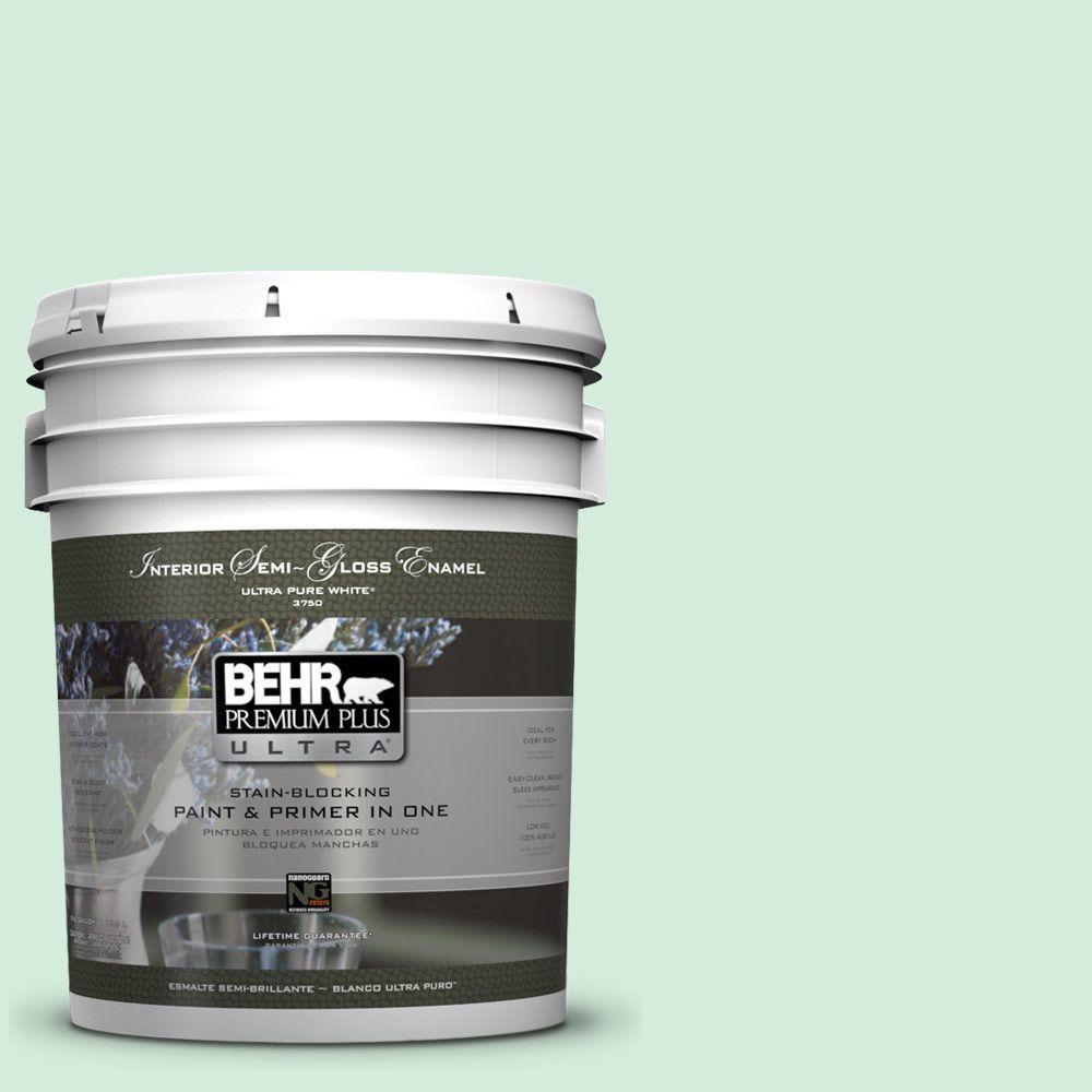 5-gal. #470C-2 Winter Fresh Semi-Gloss Enamel Interior Paint