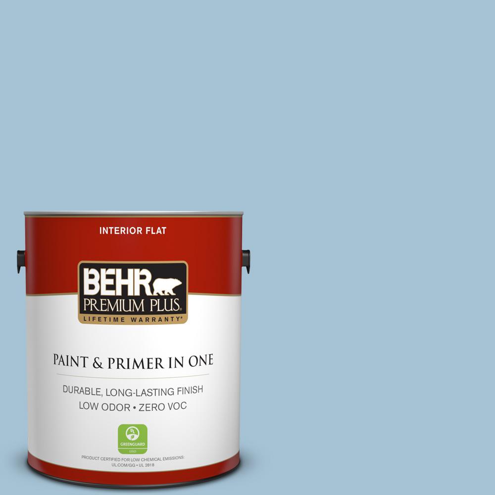 BEHR Premium Plus 1-gal. #550E-3 Viking Zero VOC Flat Interior Paint
