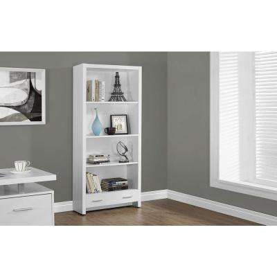 White Storage Open Bookcase