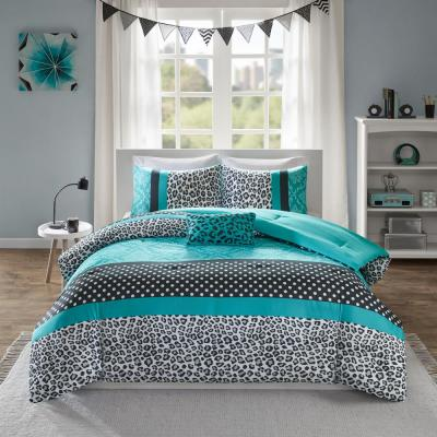 Camille 3-Piece Teal Twin Comforter Set