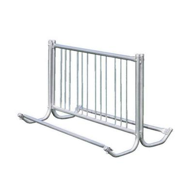 5 ft. Galvanized Commercial Park Double Sided Bike Rack Portable
