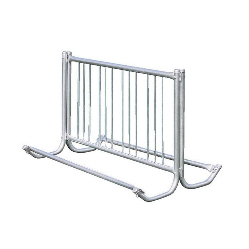 Ultra Play 5 ft. Galvanized Commercial Park Double Sided Bike Rack Portable