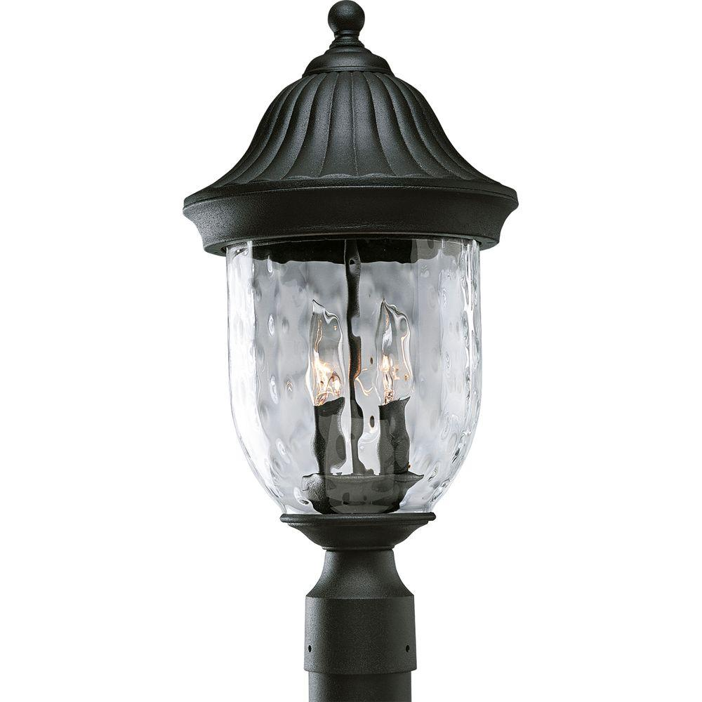 Progress Lighting Coventry Collection Textured Black 2 Light Outdoor Post Lantern