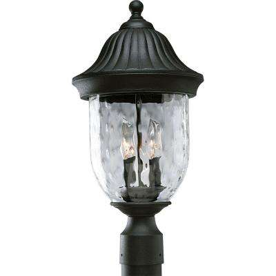 Coventry Collection Textured Black 2-Light Outdoor Post Lantern