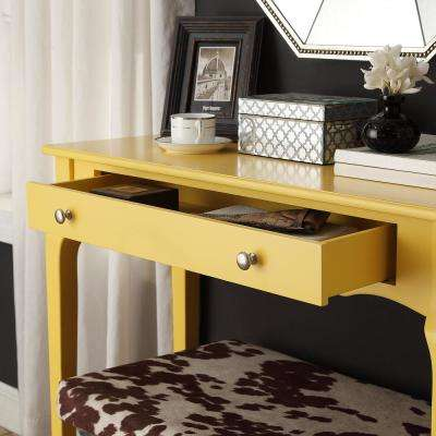 Banana Yellow Console Table