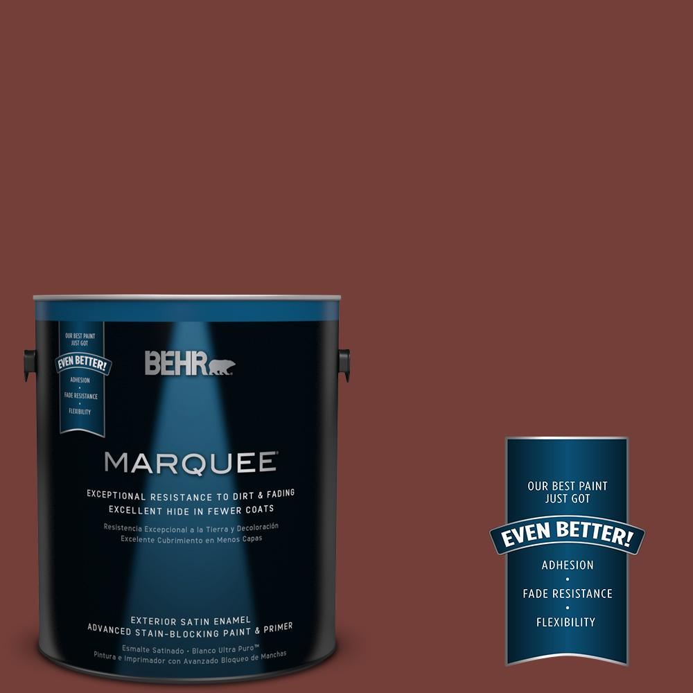 BEHR MARQUEE 1-gal. #BXC-76 Florence Red Satin Enamel Exterior Paint