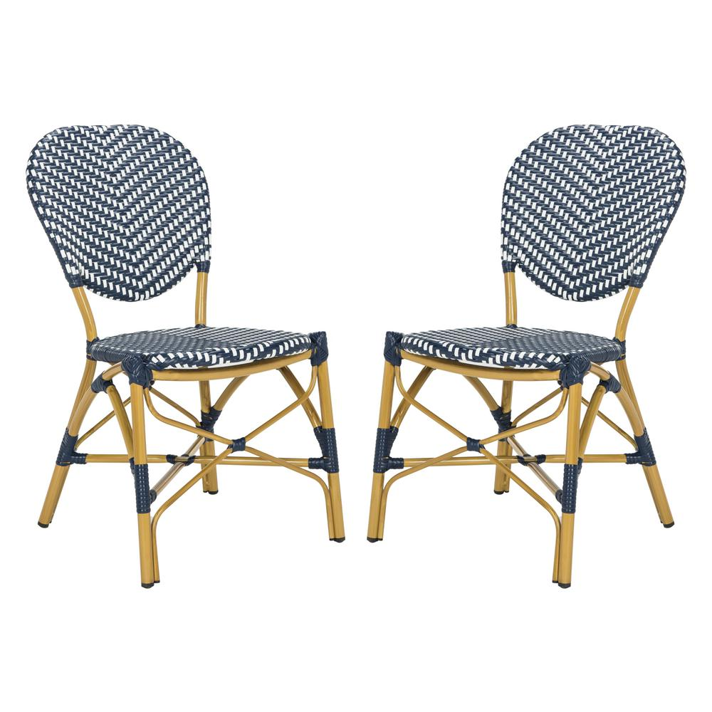 Safavieh Lisbeth Stacking Aluminum Outdoor Dining Chair in ...