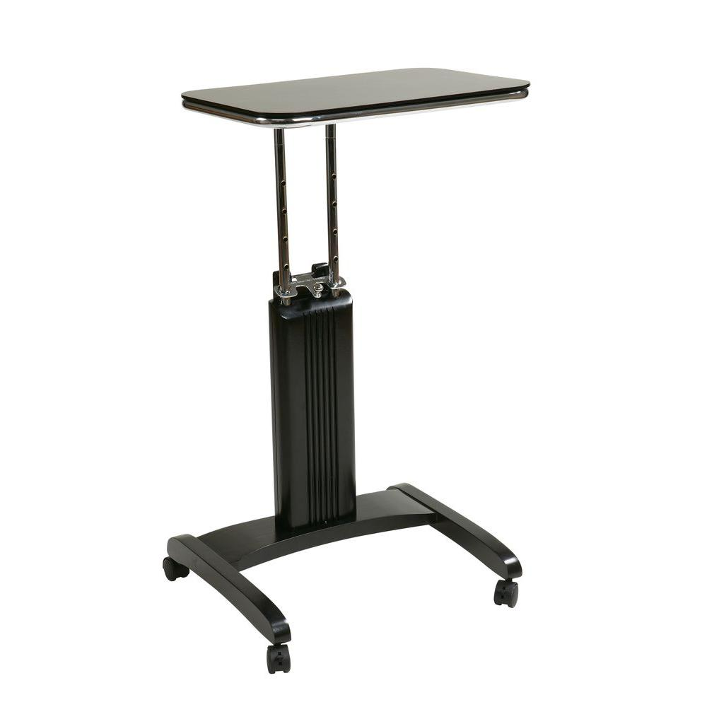 Ospdesigns precision black laptop stand with wheels psn625 for Living room ideas trackid sp 006