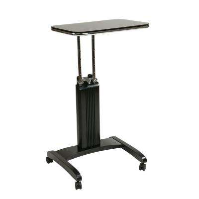 Precision Black Laptop Stand with Wheels