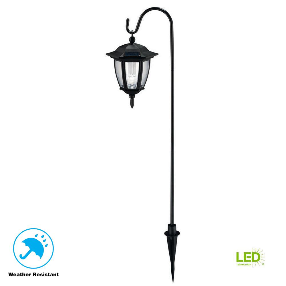 Hampton Bay Solar Black Outdoor Integrated Led Landscape: Hampton Bay Solar Black Outdoor Integrated LED Shepard