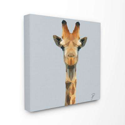 """17 in. x 17 in. """"Polygon Triangles Geometric Giraffe Abstract Graphic Design""""by Artist P.S. Art Canvas Wall Art"""