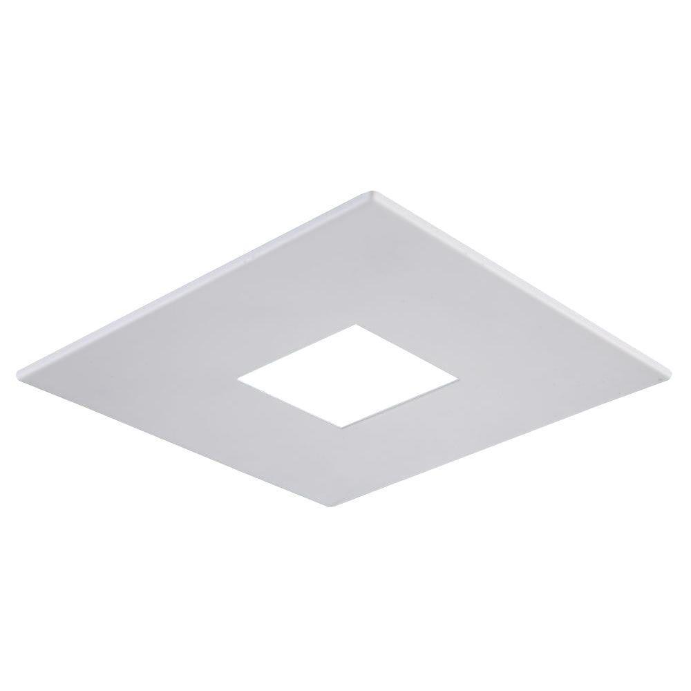 Elegant lighting 4 in matte white recessed square shower trim