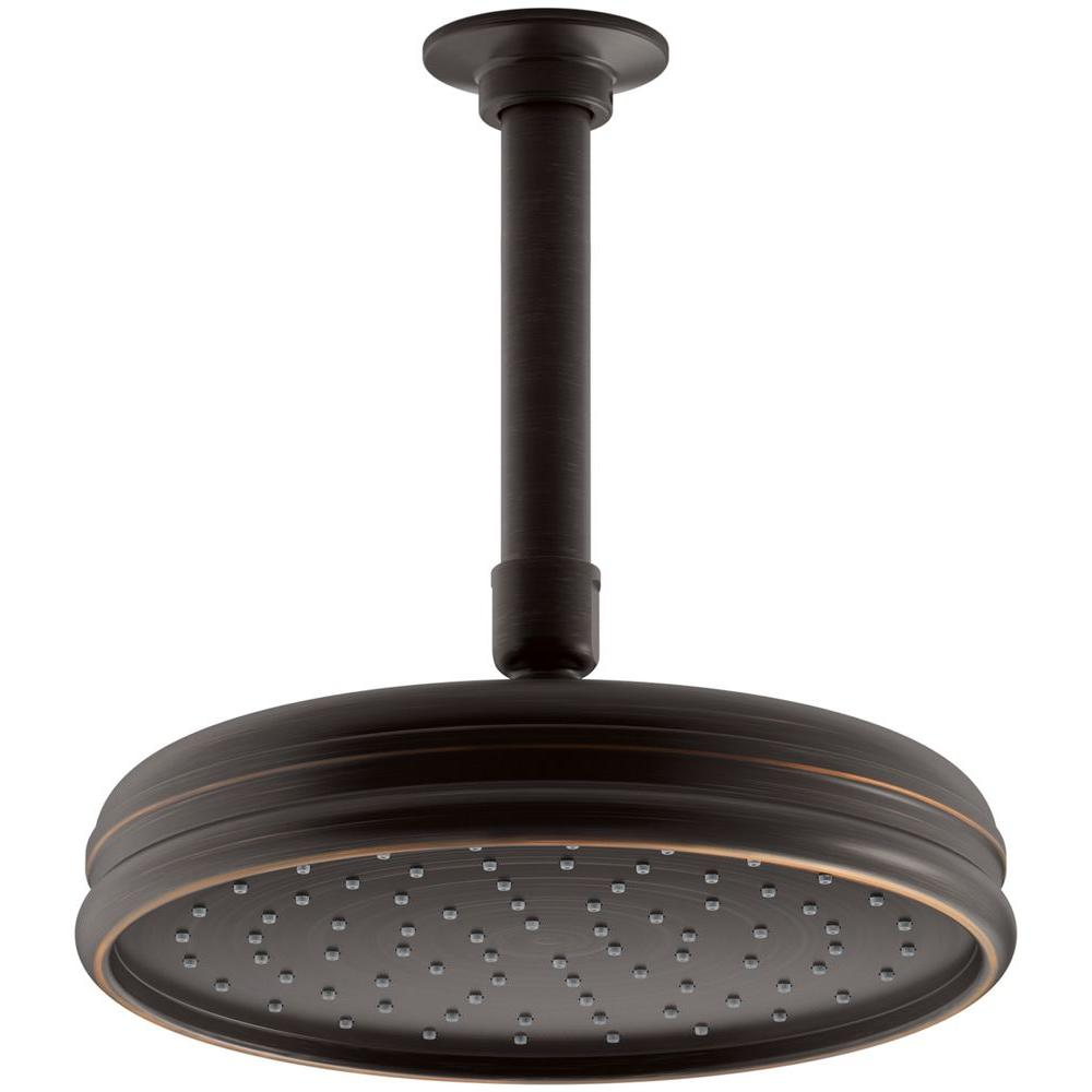 KOHLER Traditional 8 in. Round Rain 1-Spray Showerhead in Oil Rubbed Bronze-DISCONTINUED