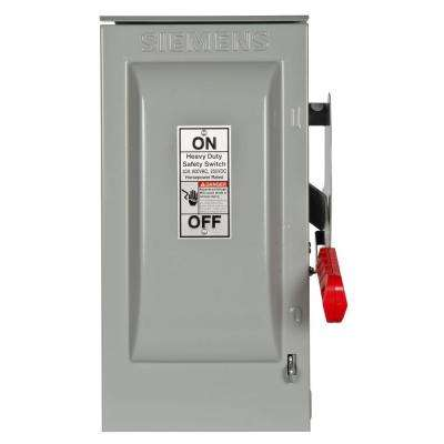 Heavy Duty 30 Amp 600-Volt 3-Pole Outdoor Fusible Safety Switch