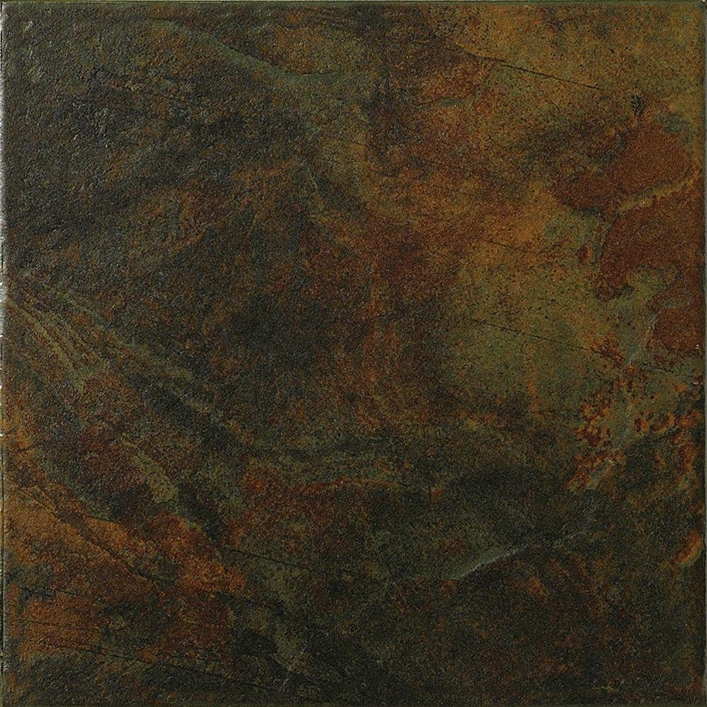MARAZZI Imperial Slate 12 in. x 12 in. Black Ceramic Floor and Wall Tile (14.53 sq. ft. / case)