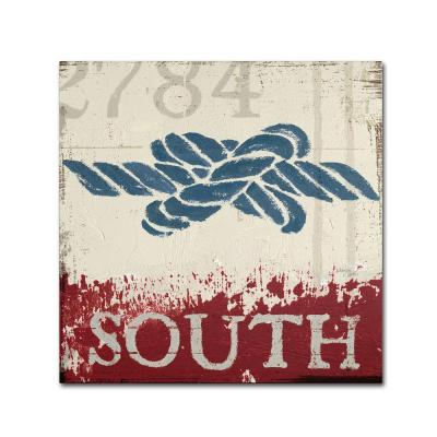 """24 in. x 24 in. """"Nautical II Red"""" by Wellington Studio Printed Canvas Wall Art"""