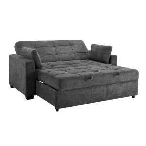 Astounding Serta Harrington Grey Queen Convertible Sofa Sa Hptsa3Tm3011 Evergreenethics Interior Chair Design Evergreenethicsorg