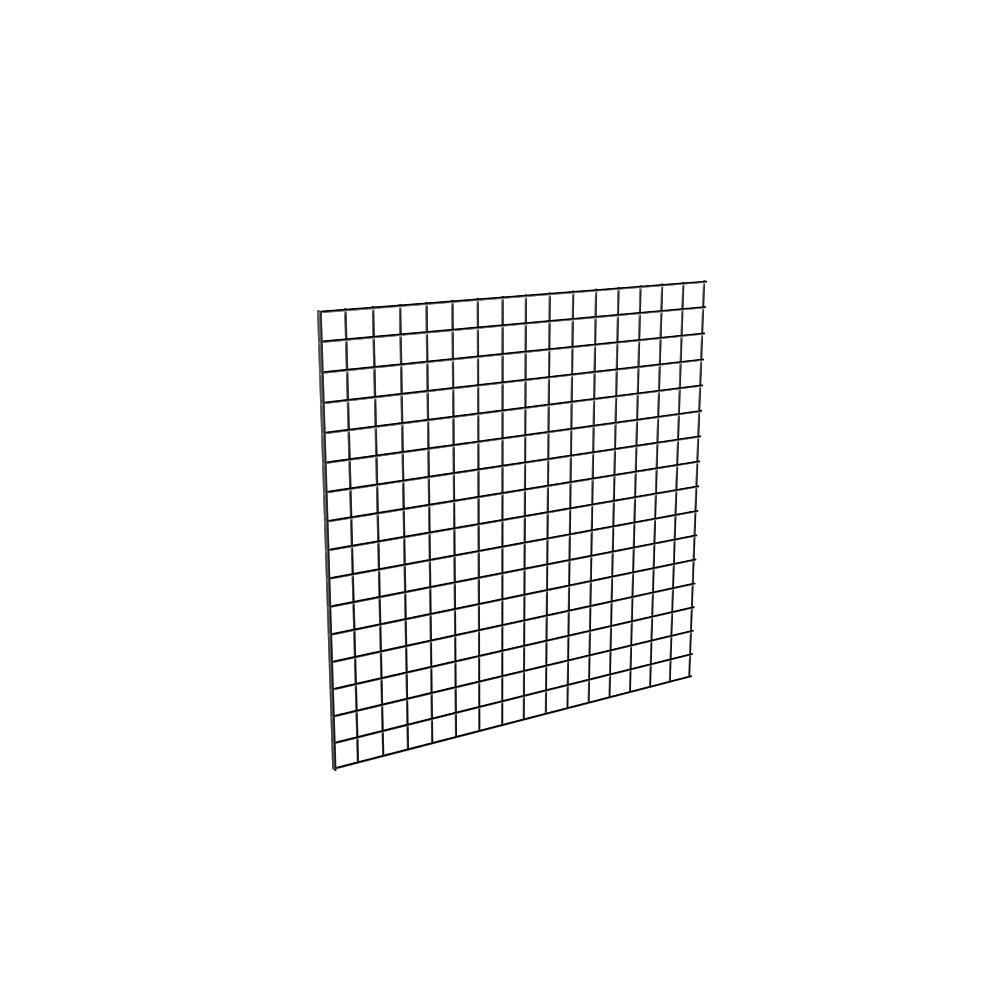 48 in. H x 48 in. W Black Metal Grid Wall Panel (3-Pack)