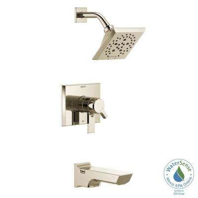 Pivotal 1-Handle Wall-Mount Tub and Shower Trim Kit with H2Okinetic Technology in Polished Nickel (Valve Not Included)