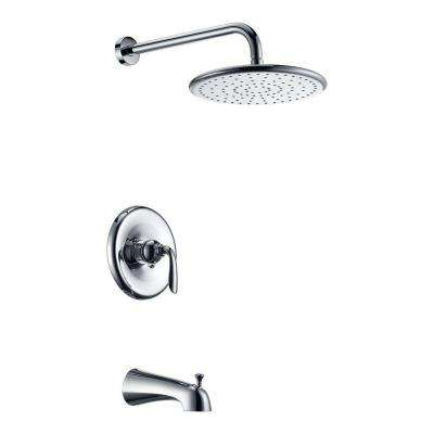 Meno Series Single-Handle 1-Spray Tub and Shower Faucet in Polished Chrome (Valve Included)